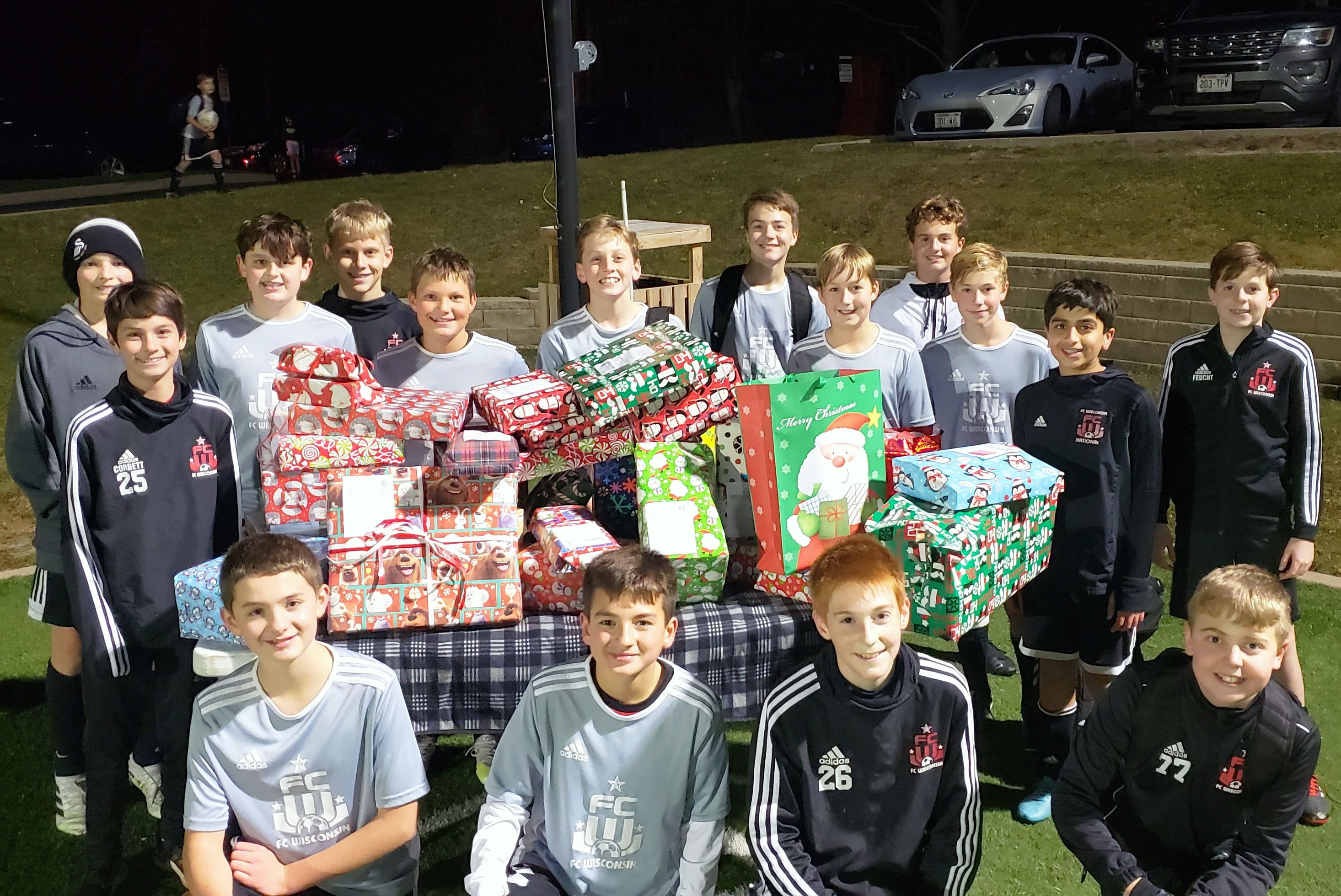 U14 RCP and U14 RCP Red Teams Host Holiday Gift Drive