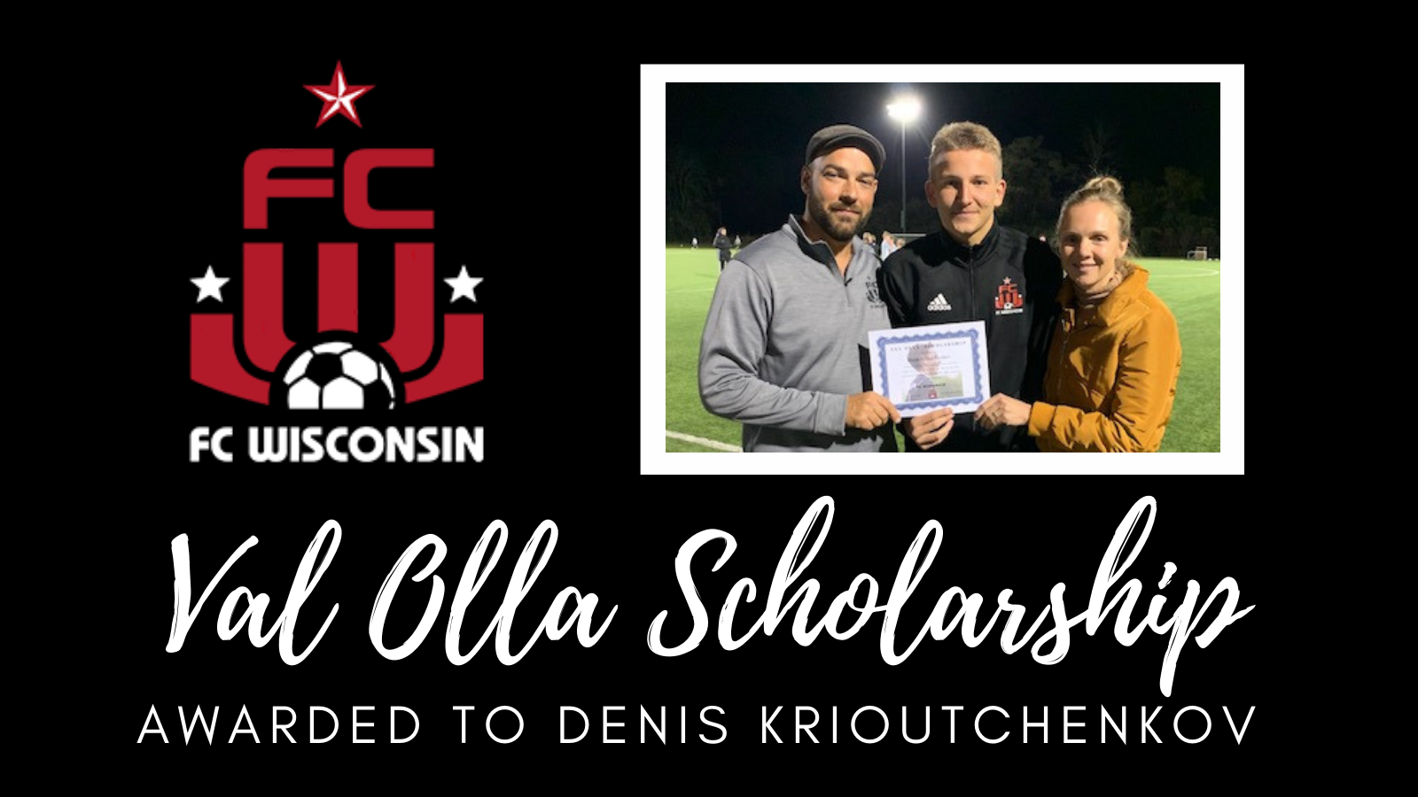 Val Olla Scholarship Awarded to Denis Krioutchenkov